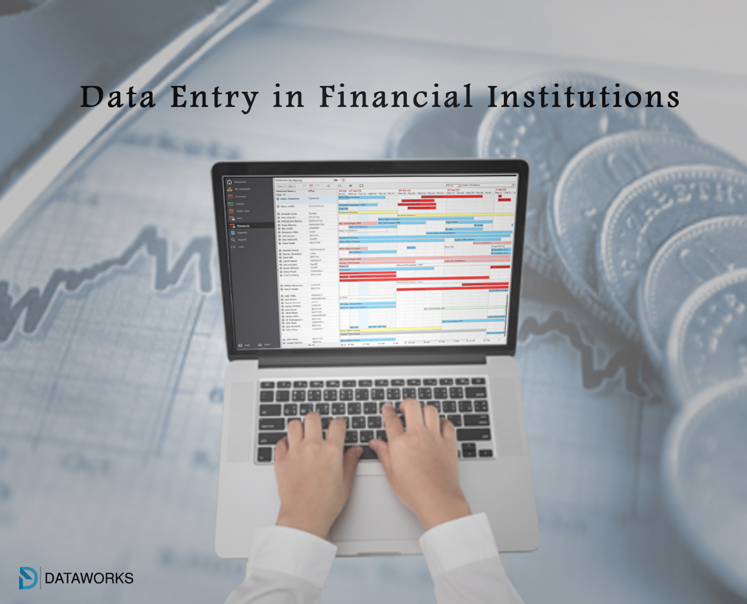 What is the role of data entry in financial institutions?